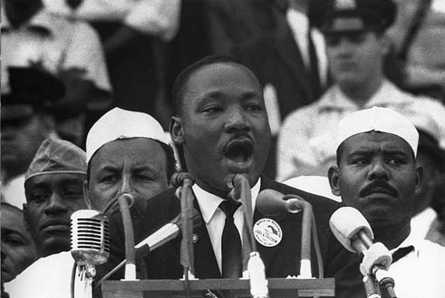 """Dr. Martin Luther King, Jr. delivering his famous """"I Have a Dream"""" speech. Photo Credit: David Erickson © 2007 (CC BY 2.0)"""