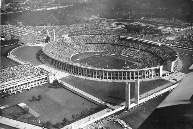 The Olympiastadion in 1936 Bundesarchiv, Bild 183-R82532 / CC-BY-SA 3.0 Bundesarchiv, Bild 183-R82532 / CC-BY-SA 3.0 [CC BY-SA 3.0 de (http://creativecommons.org/licenses/by-sa/3.0/de/deed.en)], via Wikimedia Commons 1936